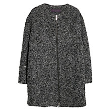 Buy Violeta by Mango Alpaca Wool Blend Coat, Dark Grey Online at johnlewis.com