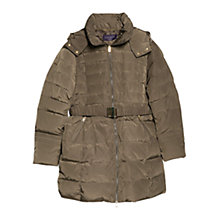 Buy Violeta by Mango Feather Down Coat, Light Pastel Brown Online at johnlewis.com