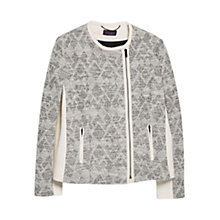 Buy Violeta by Mango Panel Boucle Jacket, Natural White Online at johnlewis.com