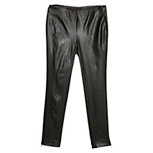 Buy Violeta by Mango Faux Leather Trousers, Dark Brown Online at johnlewis.com