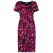 Buy Precis Petite Brushstroke Dress, Berry Online at johnlewis.com