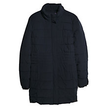 Buy Violeta by Mango Quilted Funnel Neck Coat, Navy Online at johnlewis.com