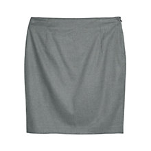 Buy Violeta by Mango Flannel Pencil Skirt, Medium Grey Online at johnlewis.com