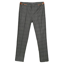 Buy Violeta by Mango Check Trousers, Medium Grey Online at johnlewis.com