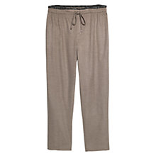 Buy Violeta by Mango Trimmed Flannel Trousers, Light Pastel Brown Online at johnlewis.com