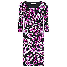 Buy Precis Petite Floral Print Dress, Multi Purple Online at johnlewis.com