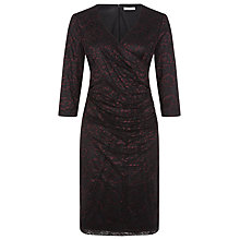 Buy Kaliko V-Neck Lace Dress, Black/Purple Online at johnlewis.com