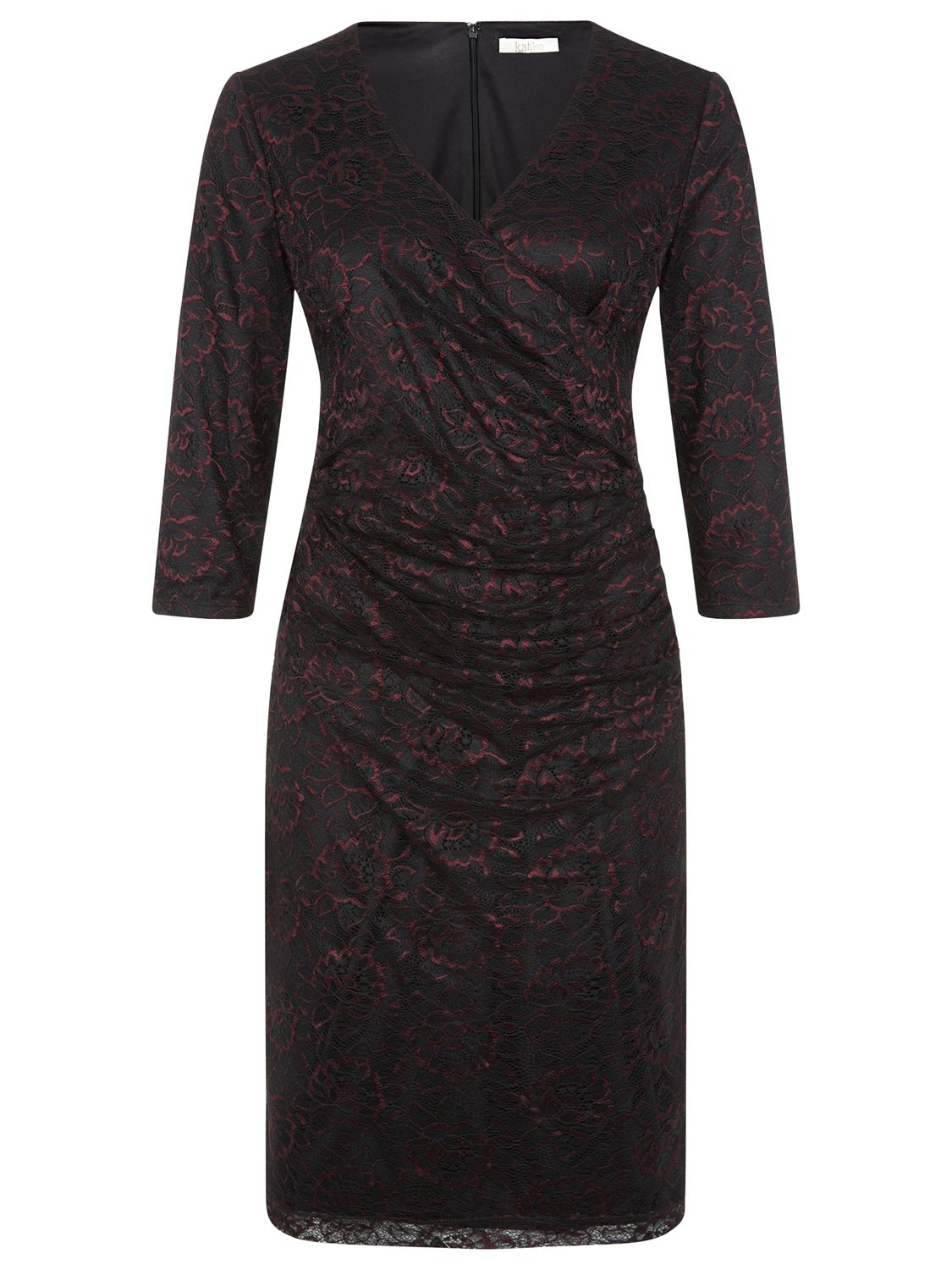kaliko v-neck lace dress black/purple, kaliko, v-neck, lace, dress, black/purple, 18|8|16|12|14|10, clearance, womenswear offers, womens dresses offers, special offers, 20% off selected kaliko, women, plus size, inactive womenswear, new reductions, womens dresses, 1775109