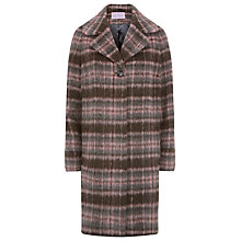 Buy Kaliko Check Wool Blend Coat, Multi/Pink Online at johnlewis.com