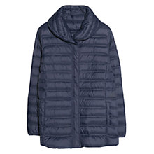 Buy Violeta by Mango Ultra Light Feather Down Coat, Navy Online at johnlewis.com