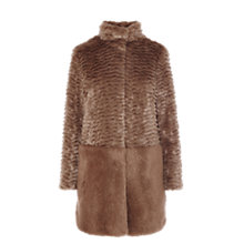 Buy Coast Metropolitan Faux Fur Coat, Neutral Online at johnlewis.com
