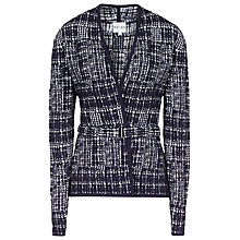 Buy Reiss Mocleo Textured Jacket, Navy/white Online at johnlewis.com