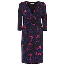 Buy Kaliko Printed Jersey Dress, Blue/Pink Online at johnlewis.com