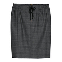 Buy Violeta by Mango Check Wool Blend Skirt, Medium Grey Online at johnlewis.com