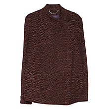 Buy Violeta by Mango Twill Alpaca-Blend Jacket, Dark Red Online at johnlewis.com