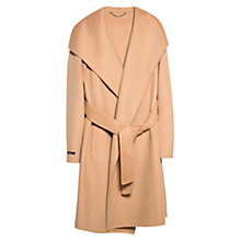 Buy Violeta by Mango Wraparound Coat, Medium Brown Online at johnlewis.com
