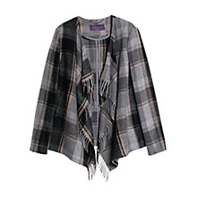 Buy Violeta by Mango Fringe Wool Blend Jacket, Medium Grey Online at johnlewis.com