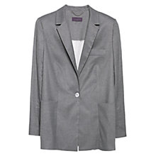 Buy Violeta by Mango Long Flannel Blazer, Medium Grey Online at johnlewis.com