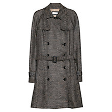 Buy Violeta by Mango Flecked Trench Coat, Grey Online at johnlewis.com