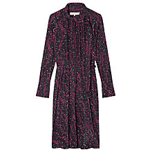 Buy Gerard Darel Silk Shirt Dress, Fuschia Online at johnlewis.com