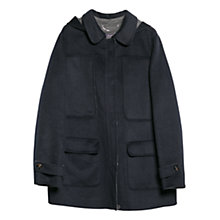 Buy Violeta by Mango Wool Blend Hooded Coat, Navy Online at johnlewis.com