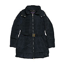 Buy Violeta by Mango Hooded Feather Down Coat, Navy Online at johnlewis.com