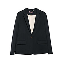 Buy Violeta by Mango Structured Cotton Blazer, Navy Online at johnlewis.com