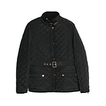 Buy Violeta by Mango Belt Quilted Coat, Black Online at johnlewis.com