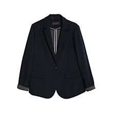 Buy Violeta by Mango Stretch Fabric Blazer, Navy Online at johnlewis.com