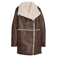 Buy Violeta by Mango Faux Shearling Lined Coat Online at johnlewis.com
