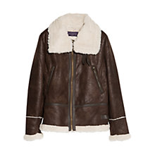 Buy Violeta by Mango Faux Shearling Lined Jacket Online at johnlewis.com