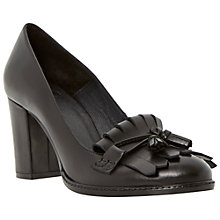 Buy Bertie Avita Fringed Leather Court Shoes, Black Online at johnlewis.com