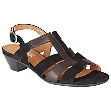 Buy Gabor Urquhart Wide Fit Leather Sandals, Black Online at johnlewis.com