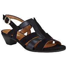Buy Gabor Urquhart Wide Fit Leather Sandals, Navy Online at johnlewis.com