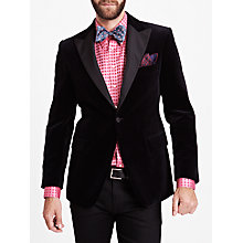 Buy Thomas Pink Falconer Velvet Blazer, Black Online at johnlewis.com