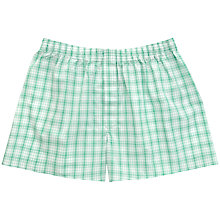Buy Thomas Pink Brentford Check Boxers, White/Green Online at johnlewis.com
