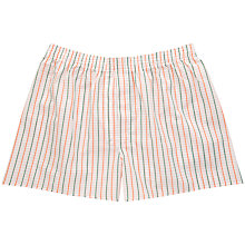 Buy Thomas Pink Romford Check Boxers, Orange/Green Online at johnlewis.com