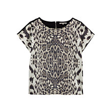 Buy Gerard Darel Saskia Leopard Print Top, Beige Online at johnlewis.com