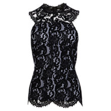 Buy Coast Lulla Lace Top, Black Online at johnlewis.com