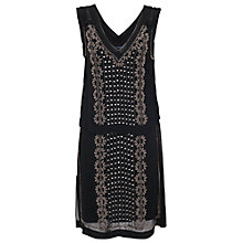 Buy French Connection La Bohome Embellished Tunic Dress, Black Online at johnlewis.com