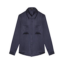Buy Gerard Darel Shade Silk Shirt, Blue Online at johnlewis.com