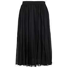 Buy French Connection Nightshade Pleats Skirt, Black Online at johnlewis.com