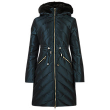 Buy Ted Baker Holoww Quilted Parka, Olive Online at johnlewis.com