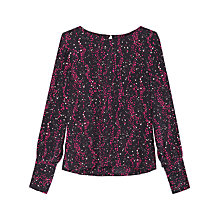 Buy Gerard Darel Silk Dot Print Shirt, Fuschia Online at johnlewis.com