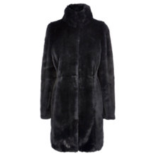 Buy Coast Lafeyette Faux Fur Coat, Navy Online at johnlewis.com