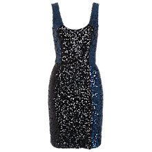 Buy French Connection Cosmic Sparkle Dress, Nocturnal/Black Online at johnlewis.com