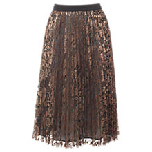 Buy Coast Tarzi Lace Midi Skirt, Gold Online at johnlewis.com