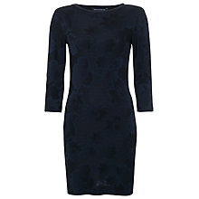 Buy French Connection Raised Floral Tunic Dress, Utility Blue/Black Online at johnlewis.com