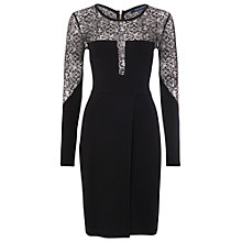 Buy French Connection Layla Lace Dress, Black Online at johnlewis.com