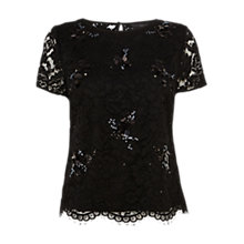 Buy Coast Katkin Top, Black Online at johnlewis.com